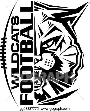 Clip art wildcats football. Wildcat clipart vector