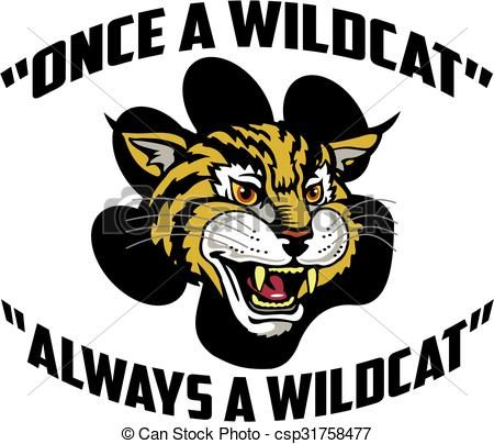 Once a stock illustration. Wildcat clipart vector