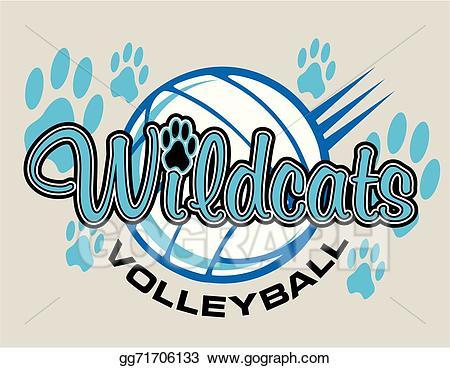 Wildcat clipart volleyball. Vector wildcats design