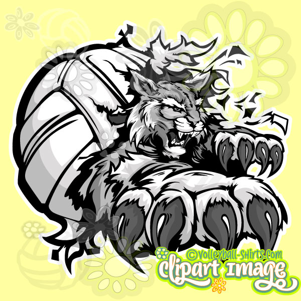 Wildcat clipart volleyball. Design unique library