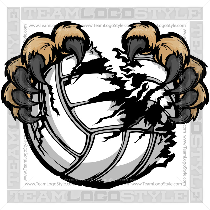 Clip art claws vector. Wildcat clipart volleyball