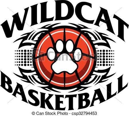 Vector stock illustration royalty. Wildcat clipart wildcat basketball