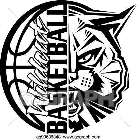 Eps illustration vector . Wildcat clipart wildcat basketball