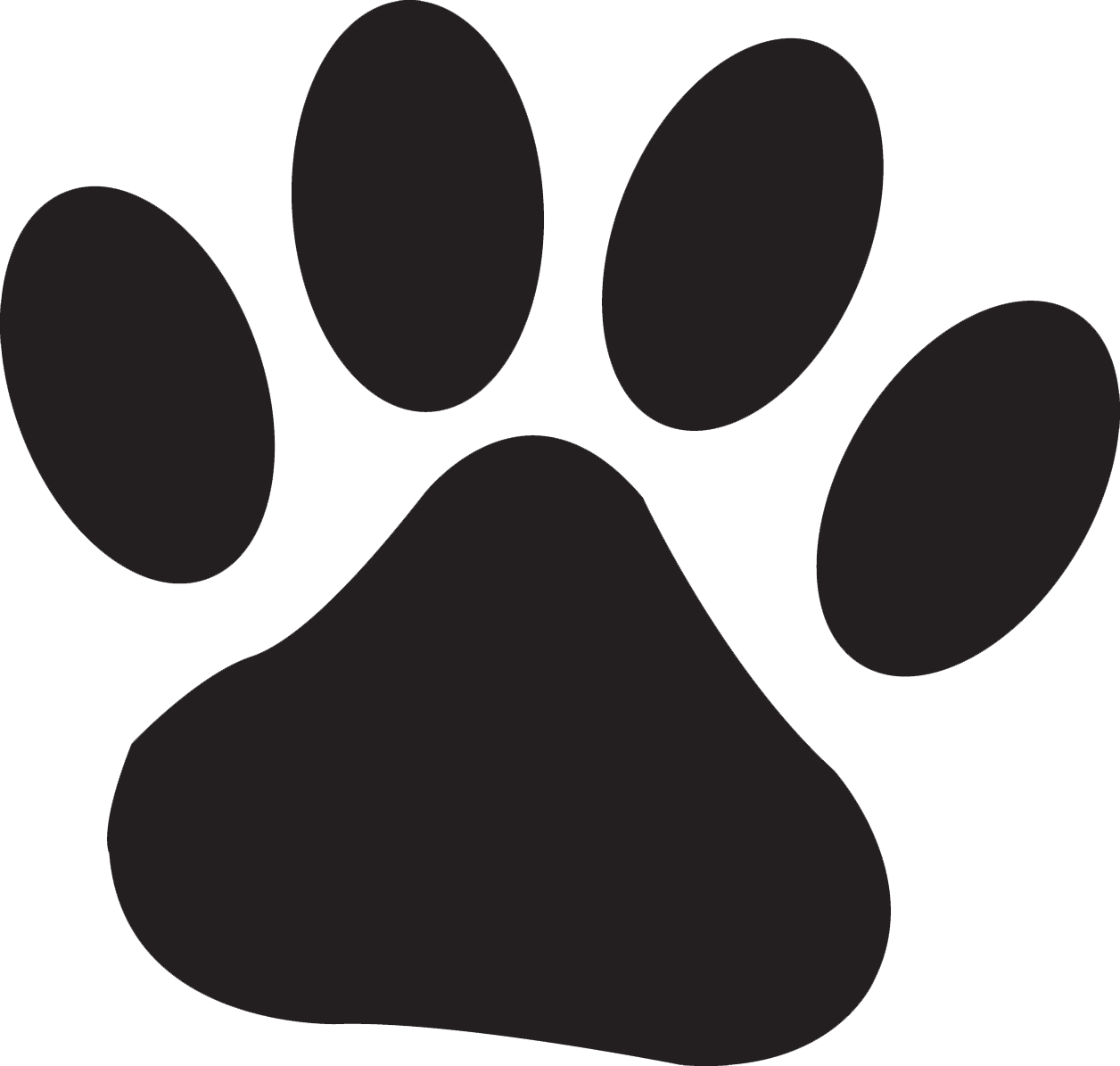 Wildcat clipart wolf claw. Free pawprints download clip