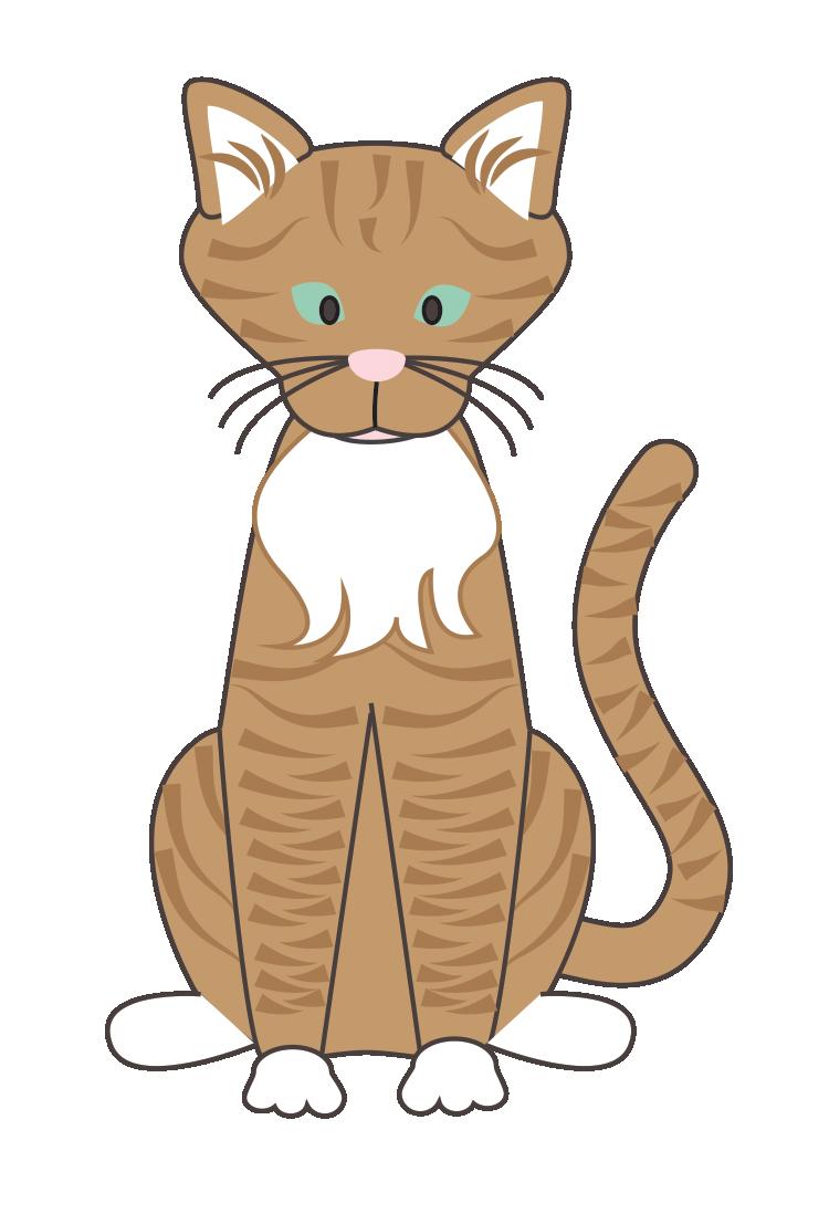 Wildcat clipart word. Gatito gato callejero clip