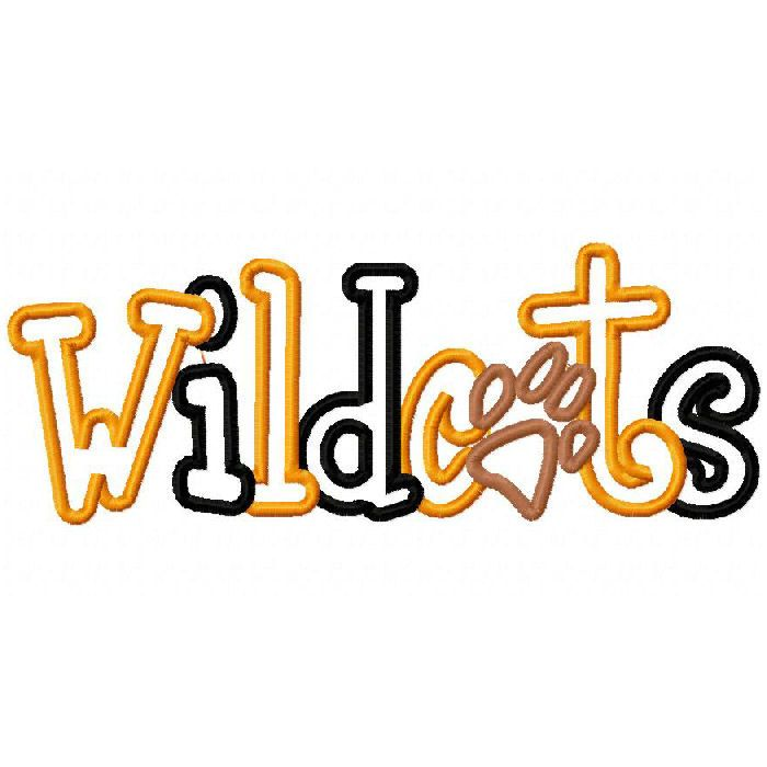 Wildcat clipart word. Free paw download clip