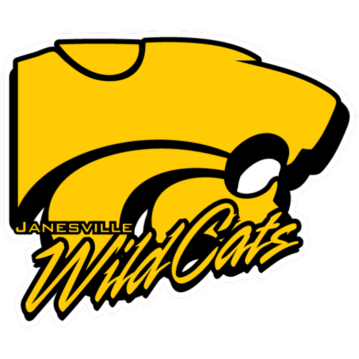 The janesville wildcats scorestream. Wildcat clipart yellow