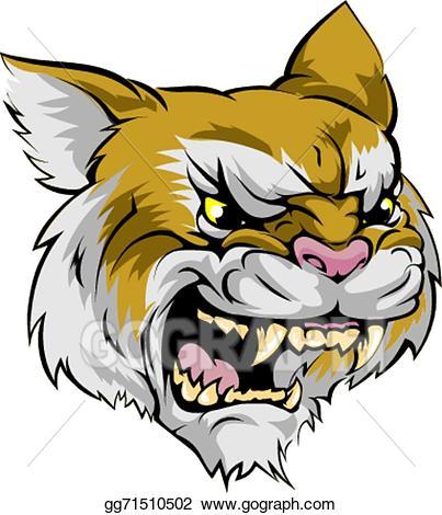 Wildcat clipart yellow. Vector mascot character