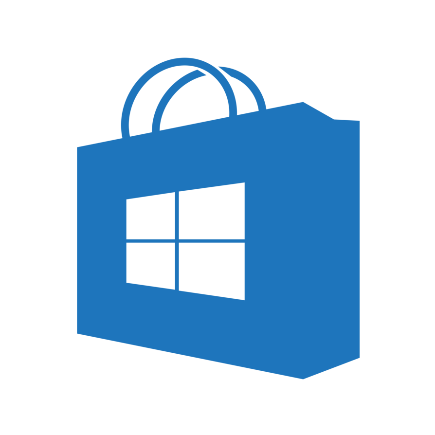 Store transparent blue homemade. Png to icon windows 10