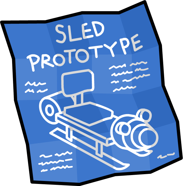Image sled prototype blueprints. Win clipart blueprint