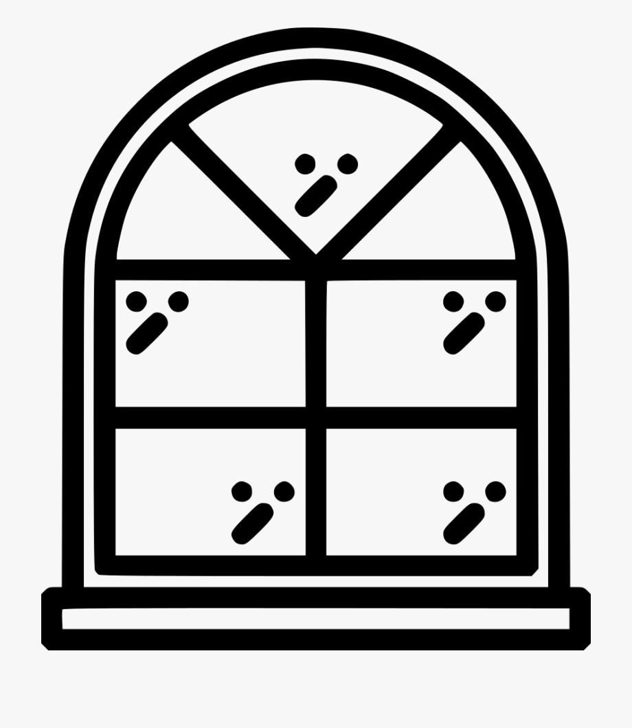 Svg arched eight fold. Win clipart brown window