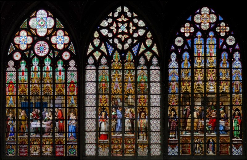 Stained glass windows of. Win clipart cathedral window