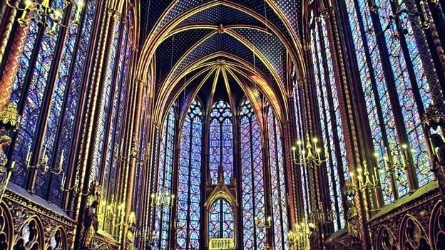 Religious stained glass . Win clipart cathedral window