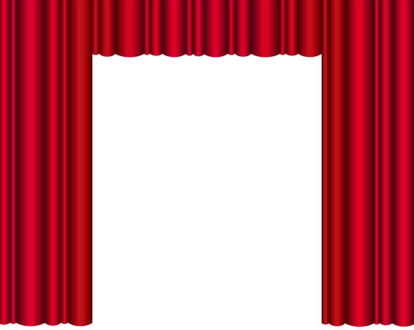 red toy theater. Win clipart curtain clipart