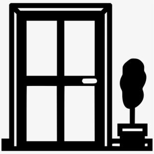 Free windows and doors. Win clipart double door