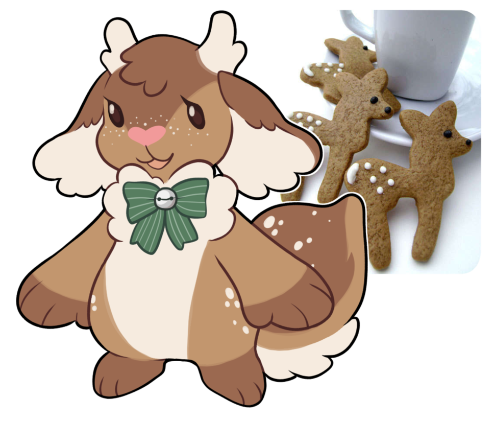 Fawn strudel dta by. Win clipart frosted
