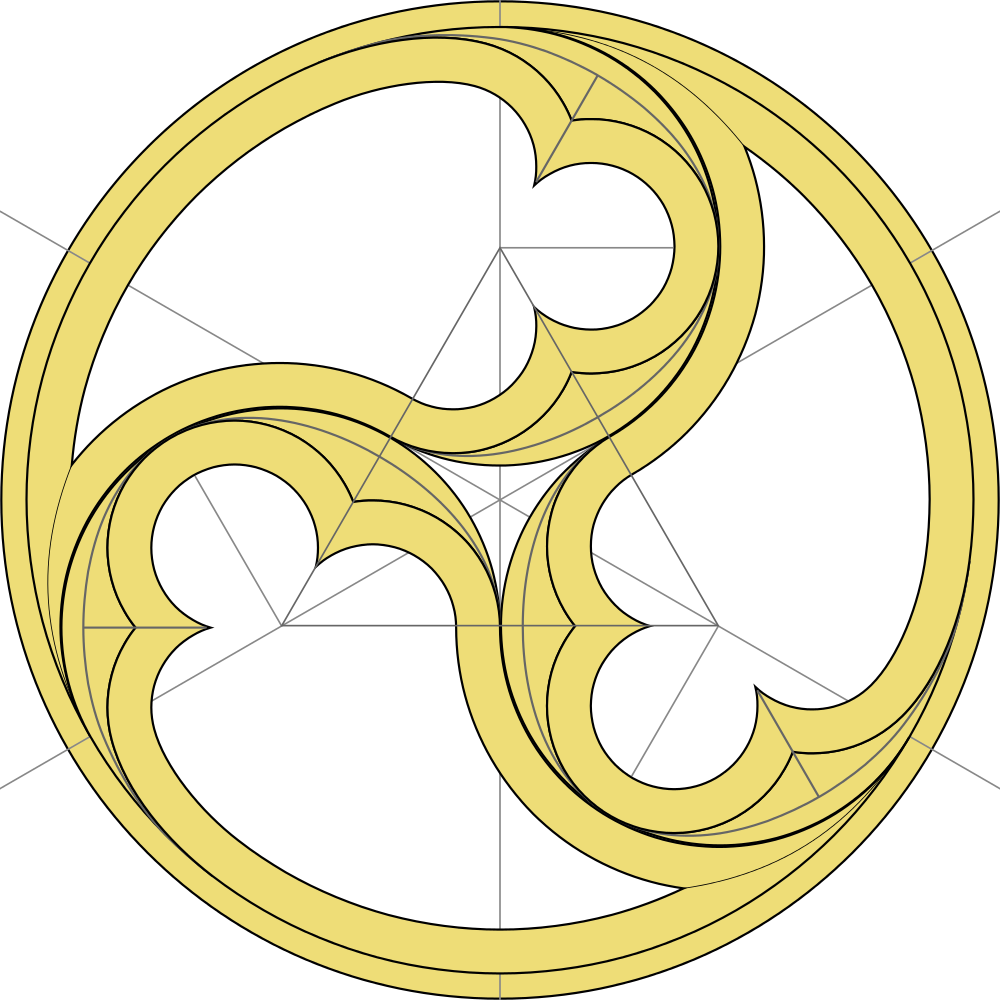 Win clipart gothic architecture drawing. Triskelion element of decorative