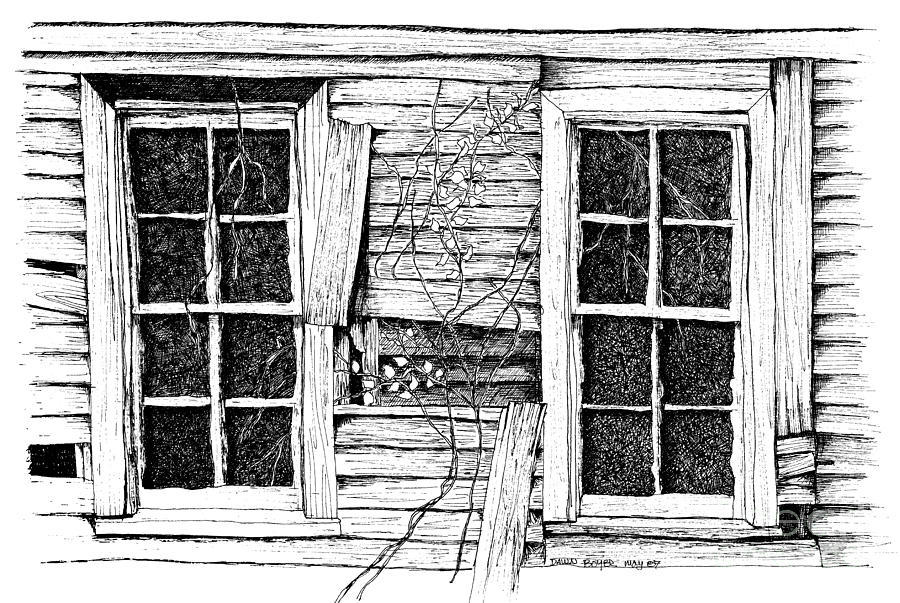 Window sketch drawing house. Win clipart home windows