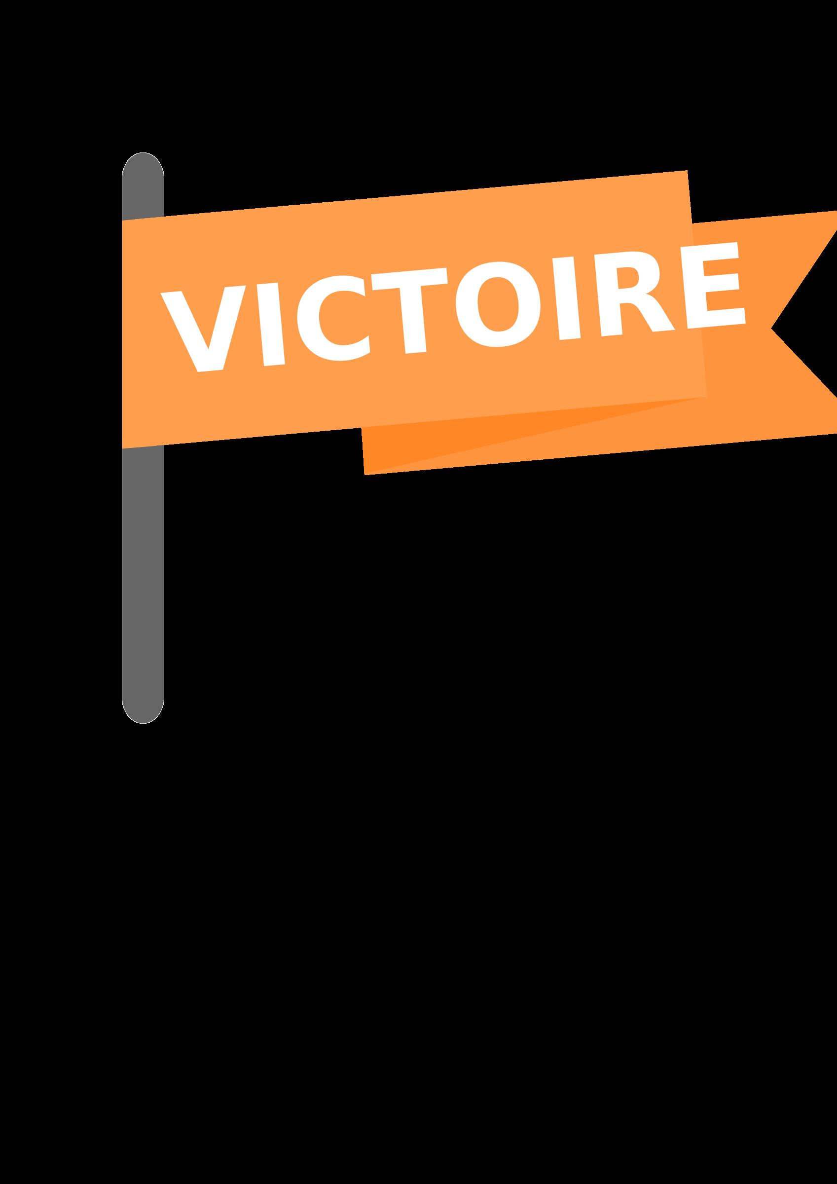 Drapeau victoire victory flag. Win clipart icon