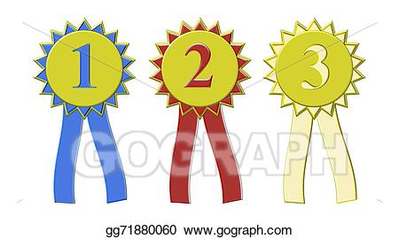 Stock place show award. Win clipart illustration