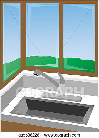 Vector stock corner at. Win clipart kitchen window