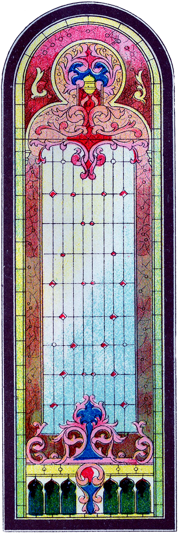 Win clipart medieval window.  vintage stained glass