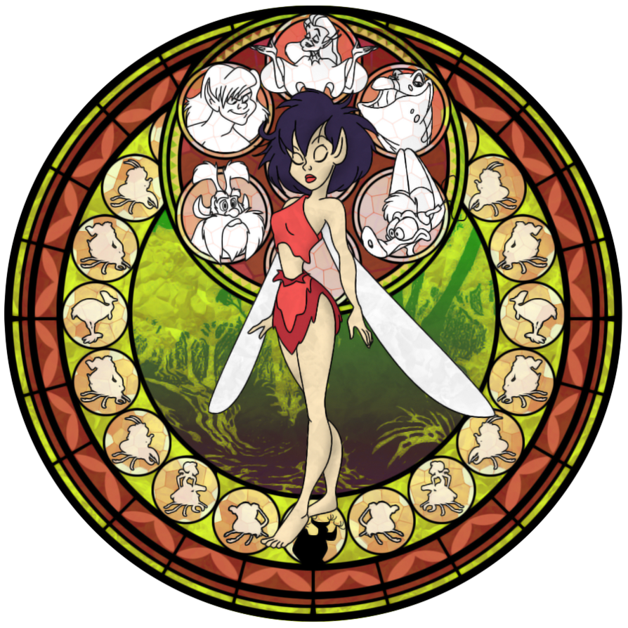 Dive to the heart. Win clipart stained glass