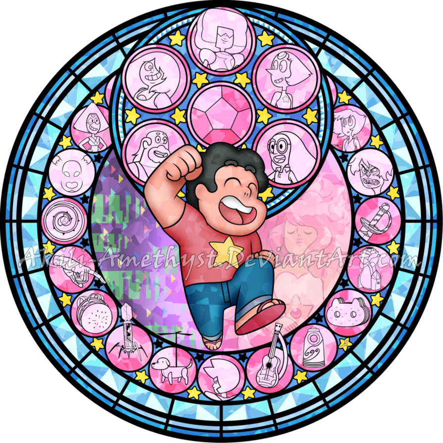 Sg steven universe by. Win clipart stained glass