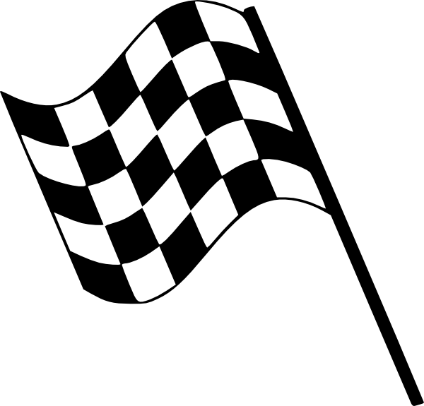 Win clipart w be for. Checkered flag clip art