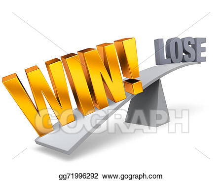 Win clipart w be for. Stock illustration weighing in