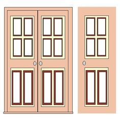 Win clipart window door. Printable dollhouse windows and