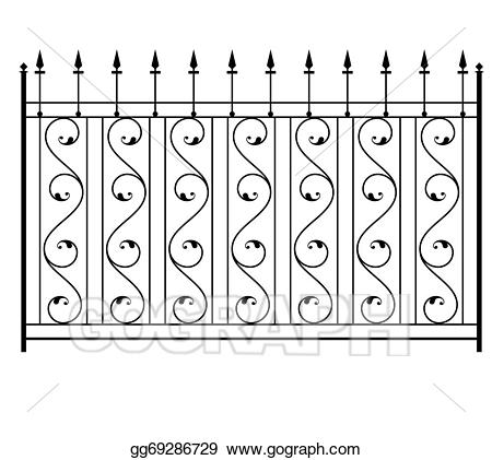 Eps vector wrought iron. Win clipart window grill