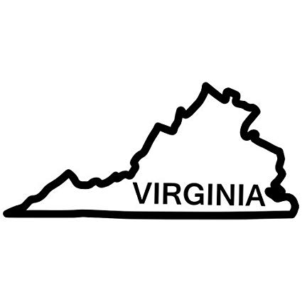 Amazon com virginia state. Win clipart window outline