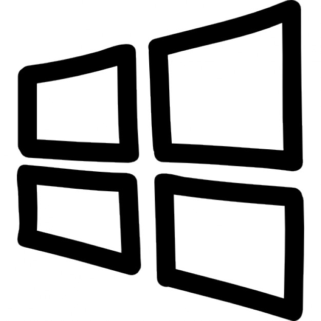 Win clipart window outline. Windows logo icon free