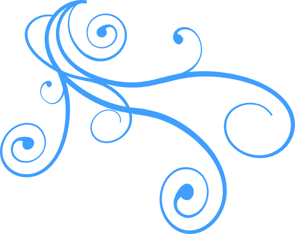 Curly clip art vector. Wind clipart