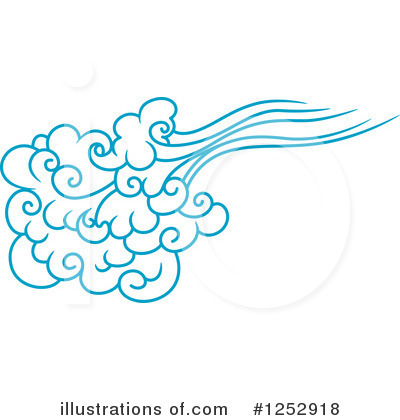 Wind clipart. Illustration by vector tradition