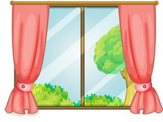 Window clipart. Open digi stamp in