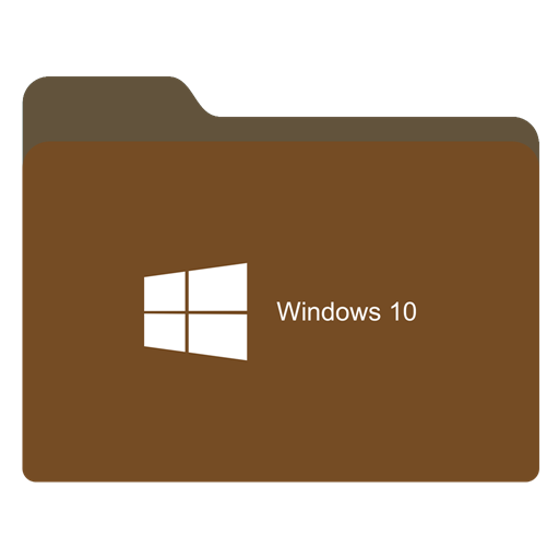 Windows 10 icon png. Folder brown w x