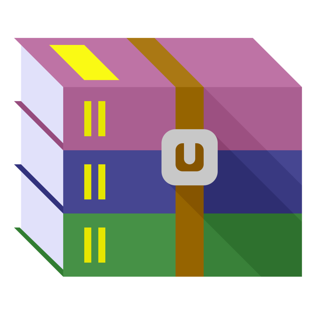 Winrar type art style. Windows 10 icon png