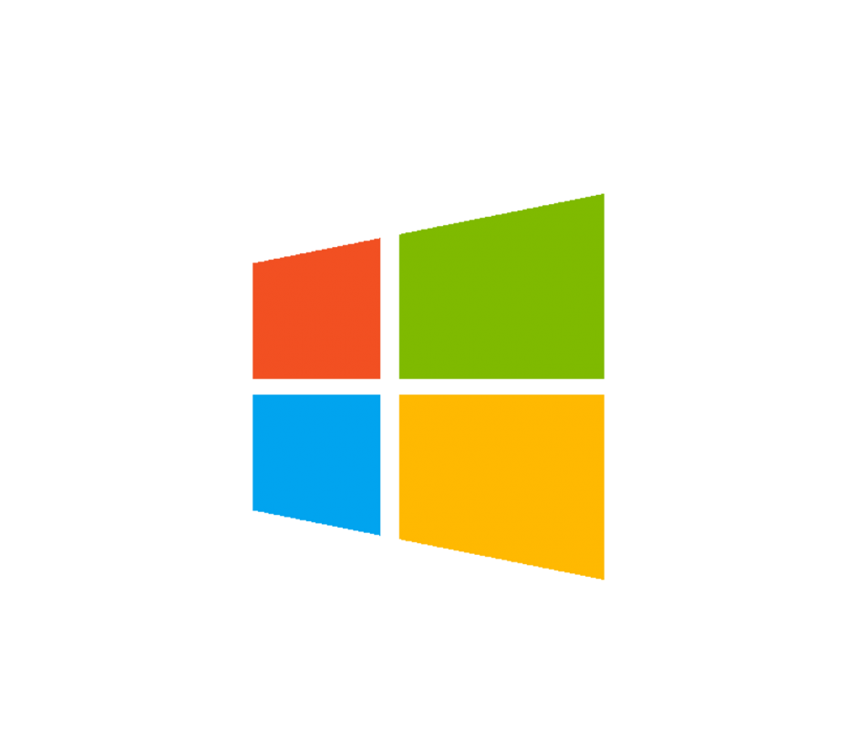 Microsoft last to come. Windows 10 logo png