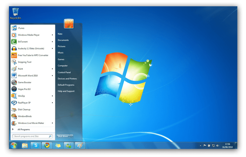 Windows 7 start icon png. The history of menu