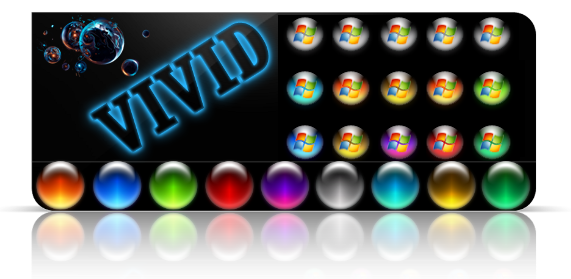 Vivid colors orbs for. Windows 7 start orb png