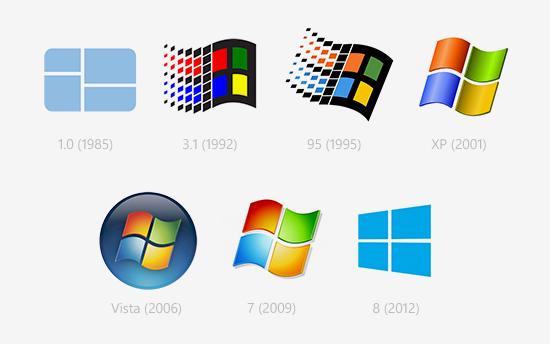 Logos through the years. Windows 95 logo png