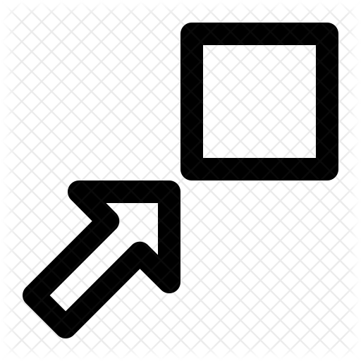 Windows arrow png. Decrease window panel icon