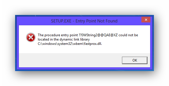 Trying to installing entry. Windows error png