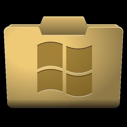 Windows folder png. Yellow icon classy icons