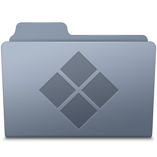 Windows folder png. Graphite icon smooth leopard