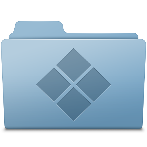 Blue icon smooth leopard. Windows folder png