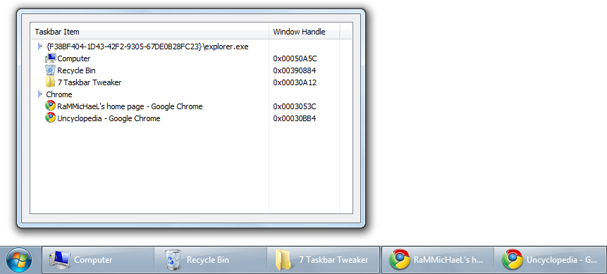 Windows taskbar png.  tweaker update v