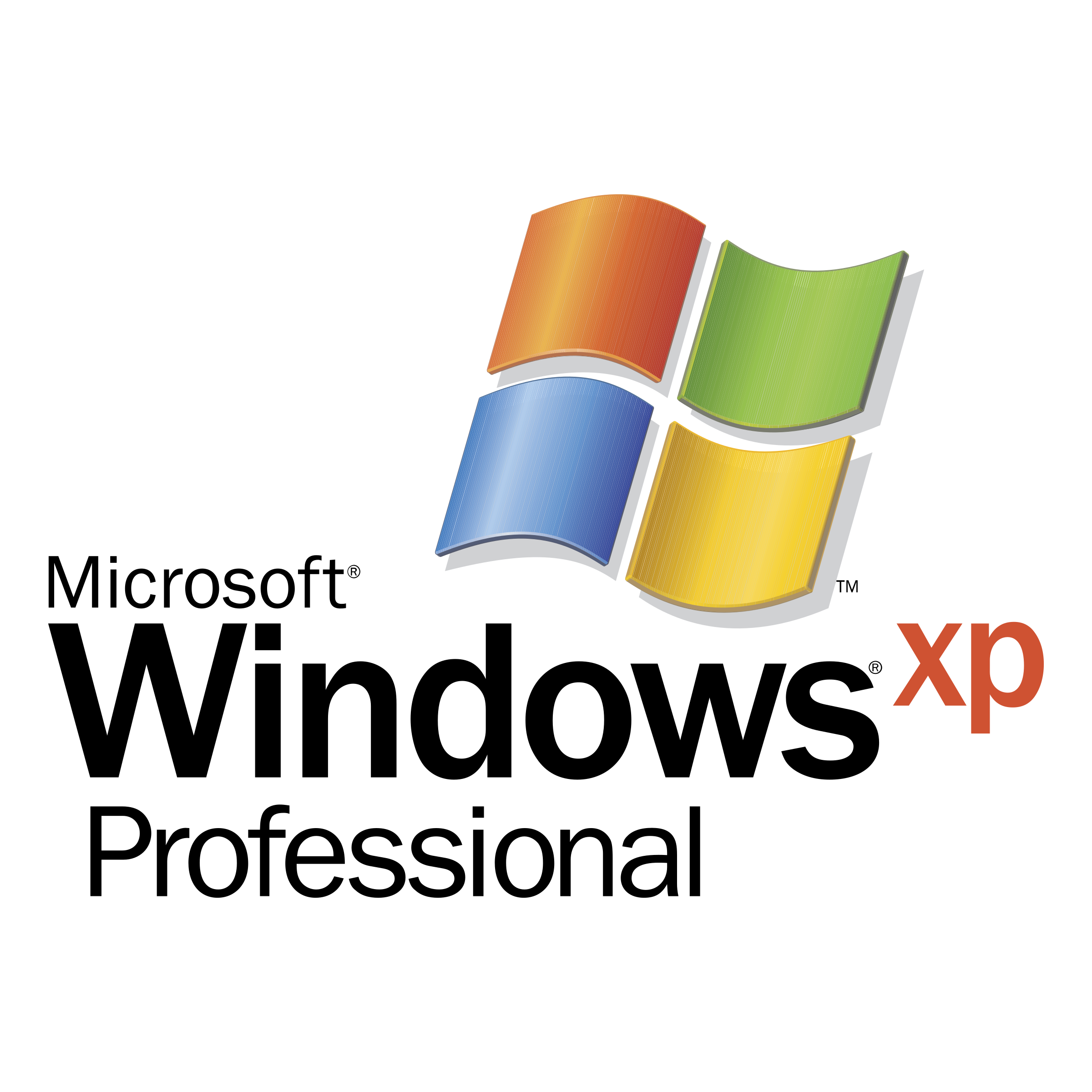 Microsoft professional logo transparent. Windows xp png